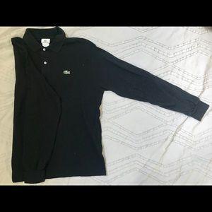 Black Long-Sleeve Lacoste Polo